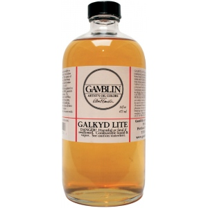 Gamblin Galkyd Lite Resin Medium 16oz: 16 oz, Oil Alkyd, (model G02016), price per each