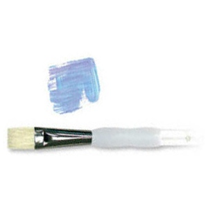 Royal & Langnickel® Soft Grip™ Stiff Hog Bristle Bright Brush 3: Stiff Hog Bristle, Bright, 3, Acrylic, Oil, Watercolor, (model RSG1425-3), price per each