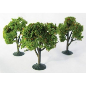 "Wee Scapes™ Architectural Model Orange Trees 3-Pack: Orange, Wire, 3-Pack, 2 1/4"" - 2 1/2"", Tree, (model WS00325), price per 3-Pack"