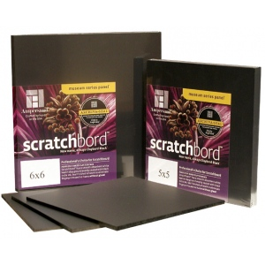 "Ampersand Professional's Choice Scratchbord: 5"" x 5"", Case of 30"