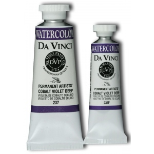 Da Vinci Artists' Watercolor Paint 15ml Cobalt Viol Deep: Purple, Tube, 15 ml, Watercolor, (model DAV237F), price per tube