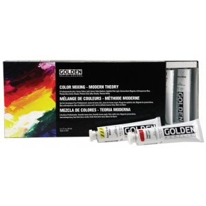 Golden® Heavy Body Acrylic Paint Modern Theory Color Mixing Sets: Multi, Tube, 59 ml, Acrylic, (model 0000912-0), price per set