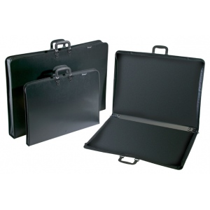 "Prestige™ Studio™ Series Lite Art Portfolio 1-1/2"" Gusset 23"" x 31"": Black/Gray, 1 1/2"", Polypropylene, 23"" x 31"", (model PC2331), price per each"