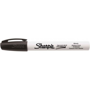 Sharpie® Oil Paint Marker Medium Black: Black/Gray, Paint, Medium Nib, (model SN35549), price per each