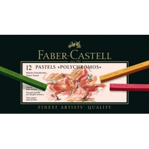 Faber-Castell Polychromos Artists Pastel: Cardboard Box of 12