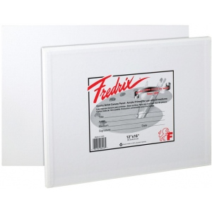 "Fredrix® Artist Series 14 x 18 Canvas Panel: White/Ivory, Panel/Board, 12-Pack, 14"" x 18"", Stretched"