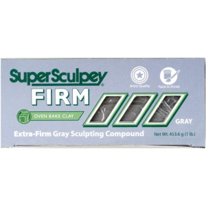 Sculpey® SuperSculpey® Firm Clay Gray: Black/Gray, 1 lb, Firm, (model SS1SCULPT), price per each