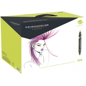 Prismacolor® Double Ended Brush Markers 156-Color Set: Multi, Double-Ended, Alcohol-Based, Dye-Based, Brush Nib