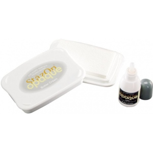 Stazon Solvent Ink Pad with Re-Inker Butter Cream