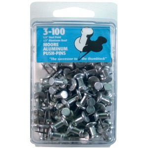 "Moore 3/8"" Push-Pins 100-Pack: 3/8"""