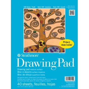 "Strathmore 9"" x 12"" Tape Bound Drawing Paper Pad"