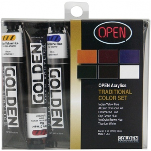 Golden® OPEN Acrylic Introductory Set Traditional: Multi, Tube, 22 ml, Acrylic, (model 0000045-0), price per set