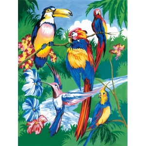"Royal & Langnickel® Painting by Numbers™ 8 3/4 x 11 3/8 Junior Small Set Tropical Bird: 8 3/4"" x 11 3/8"", (model PJS15), price per set"