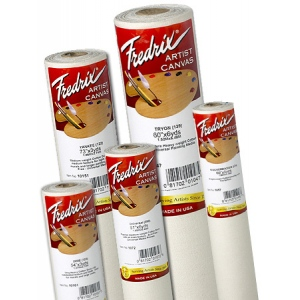 "Fredrix® PRO Dixie 72 x 3yd Acrylic Primed Cotton Canvas Roll: White/Ivory, Roll, Cotton, 72"" x 3 yd, Acrylic, Primed"