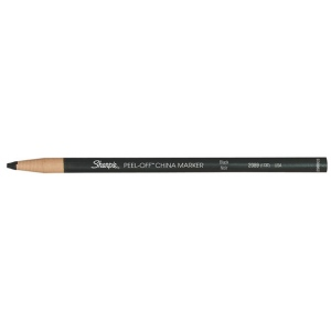 Sharpie® Peel-Off™ Black China Marking Pencil: Black/Gray, (model 173T), price per dozen (12-pack)
