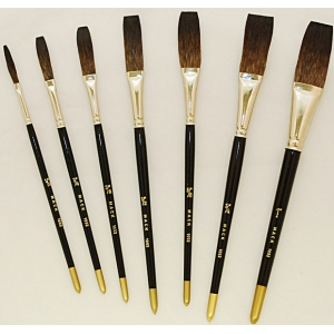 Mack Soft Stroke Lettering Brush Series 1992: #1/2, Hair Length 1-5/8""