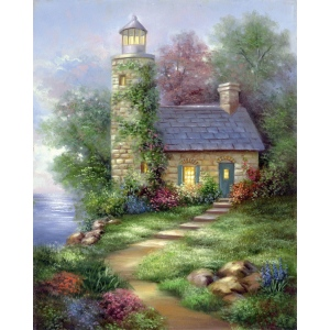"Royal & Langnickel® Paint Your Own Masterpiece™ 11 x 14 Romantic Lighthouse: 11"" x 14"", (model POM-SET14), price per set"