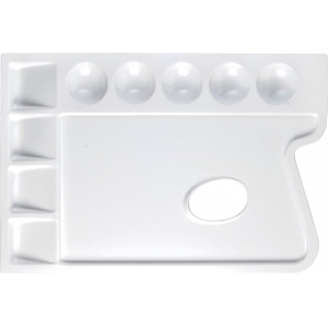 "Heritage Arts™ Rectangular Plastic Palette 9 3/4 x 6 3/4: Plastic, 9 Wells, Rectangle, 6 3/4"" x 9 3/4"", (model CW165), price per each"