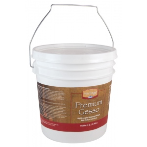 Heritage Arts™ Premium Gesso Medium Gallon: Tub, 1 gal, Gesso, (model AHP-G), price per each
