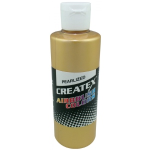 Createx™ Airbrush Paint 2oz Pearlescent Satin Gold: Metallic, Bottle, 2 oz, Airbrush, (model 5307-02), price per each