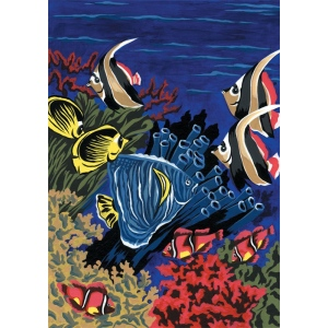 "Royal & Langnickel® Painting by Numbers™ 8 3/4 x 11 3/8 Junior Small Set Underwater Life: 8 3/4"" x 11 3/8"", (model PJS6), price per set"