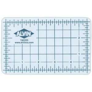 "Alvin® TM Series Translucent Professional Self-Healing Cutting Mat 24 x 36: Clear, Grid, Vinyl, 24"" x 36"", 3mm, Cutting Mat"