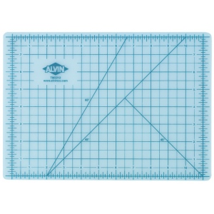 "Alvin® TM Series Translucent Professional Self-Healing Cutting Mat 36 x 48: Clear, Grid, Vinyl, 36"" x 48"", 3mm, Cutting Mat, (model TM2248), price per each"