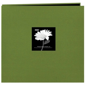 "Pioneer® 12 x 12 Fabric Frame Scrapbook Herbal Green: Green, Fabric, 10 Page Protectors, 12"" x 12"""