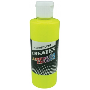 Createx™ Airbrush Paint 4oz Fluorescent Yellow: Yellow, Bottle, 4 oz, Airbrush, (model 5405-04), price per each