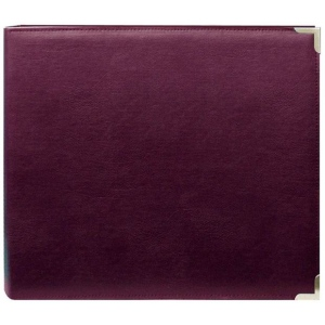 "Pioneer® 12"" x 12"" 3-Ring Scrapbook Binder Burgundy Oxford: Red/Pink, Leatherette, 12"" x 12"", (model TM12BUOX), price per each"