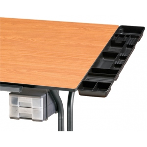 Alvin White Table and Desktop Storage Tray