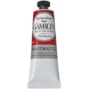 Gamblin Artists' Grade FastMatte Alkyd Oil Color 37ml Quinacridone Red: Red/Pink, Tube, 37 ml, Alkyd Oil, (model GF1590), price per tube