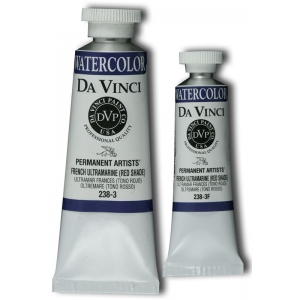 Da Vinci Artists' Watercolor Paint 15ml French Ultramarine: Blue, Tube, 15 ml, Watercolor, (model DAV238-3F), price per tube