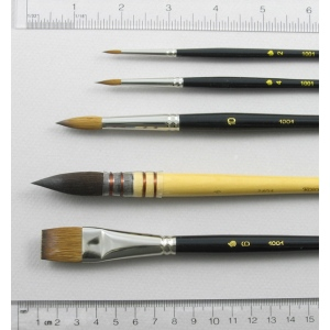 Trinity Brush Watercolor Set of 5 Art Brushes
