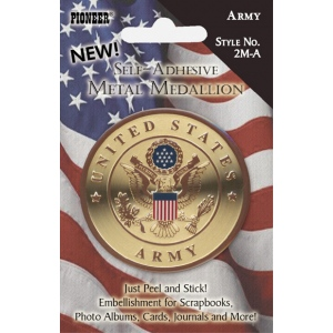 Pioneer® Self-Adhesive Metal Military Medallions