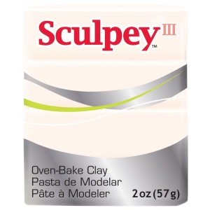 Sculpey® III Polymer Clay Translucent: White/Ivory, Bar, Polymer, 2 oz, (model S302010), price per each
