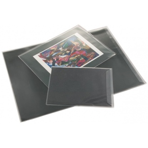 "Prestige™ Art Envelope 9"" x 12"": Black/Gray, Vinyl, 9"" x 12"", (model AE912-6), price per pack"