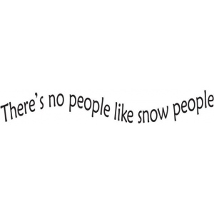 Sarasota Stamps Mounted Rubber Stamp No People Like Snow People: Rubber, Mounted