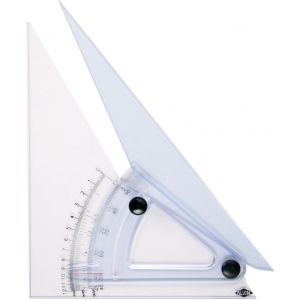 "Alvin® 10"" Computing Trig-Scale Adjustable Triangle: Adjustable, Clear, Acrylic, 10"", Triangle"