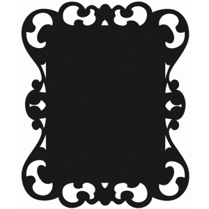 "Mishu Victorian Chalkboard Wall Sticker: 19"" x 24"", Chalkboard, (model M180CB), price per each"