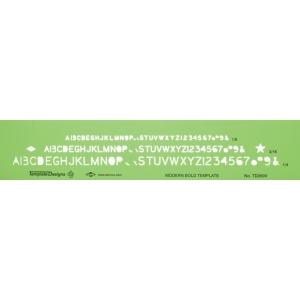 alvin modern bold lettering template 14 1 1
