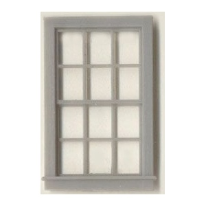 "1/4"" Scale Architectural Components: 12-Pane, Double Hung Window, Set of 4"