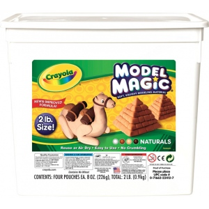 Crayola® Model Magic® Resalable Bucket 2lb Natural: Brown, 8 oz, Craft, (model 23-2412), price per each