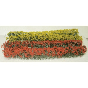 "Wee Scapes™ Architectural Model Red & Yellow Flowering Hedges: Red/Pink, Yellow, 4-Pack, 3/8""d x 5""w x 5/8""h, Hedges, (model WS00334), price per 4-Pack"