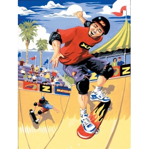 "Royal & Langnickel® Painting by Numbers™ 8 3/4 x 11 3/8 Junior Small Set Skateboarder: 8 3/4"" x 11 3/8"""