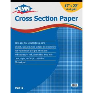 "Alvin® Cross Section Paper 4"" x 4"" Grid"