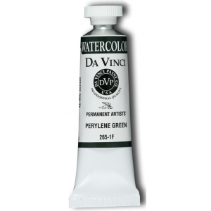 Da Vinci Artists' Watercolor Paint 15ml Perylene Green: Green, Tube, 15 ml, Watercolor, (model DAV265-1F), price per tube