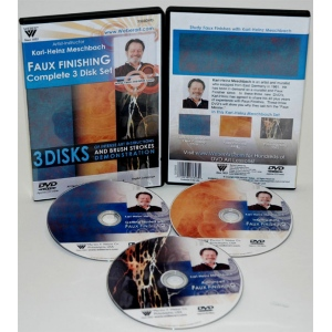 Karl-Heinz Meschbach's  Faux Finishing Oil Painting, 3 Levels, DVD: (3 Hour)
