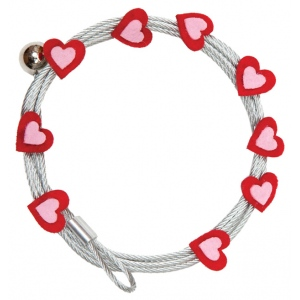 "Mishu Mighty Magnet Photo Cable Red Hearts: Red/Pink, 57"", Heart, Cable, (model M895), price per each"