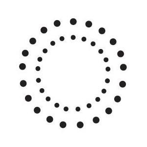 Sarasota Stamps Mounted Rubber Stamp Double Dot Circles: Rubber, Mounted, (model SSB-3492), price per each